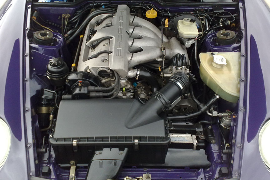 Porsche 968 engine bay 1994 model year onwards
