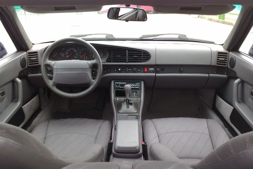 Porsche 968 cockpit with newer style seats