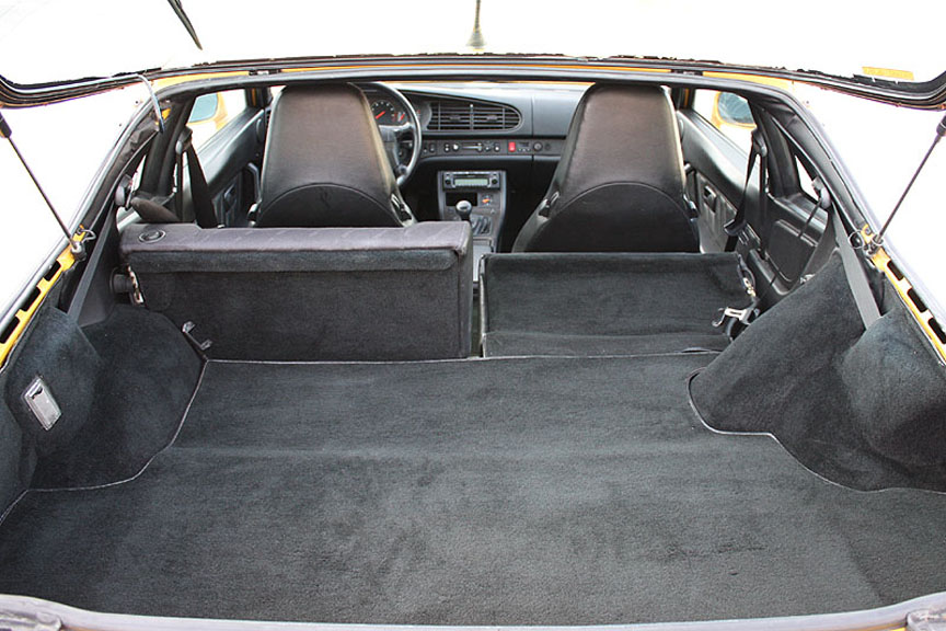 Porsche 968 rear seat folded down