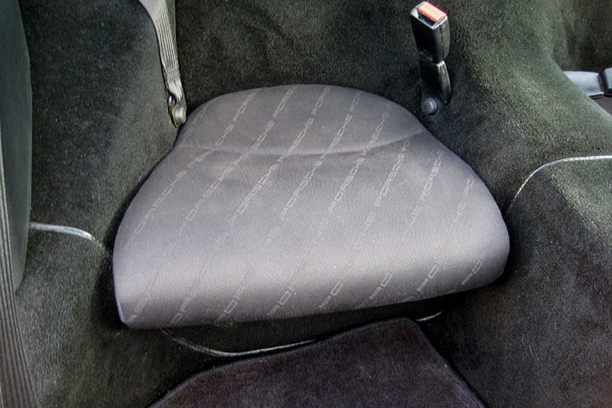 Porsche 968 Japanese version longer rear seat bottom, newer style