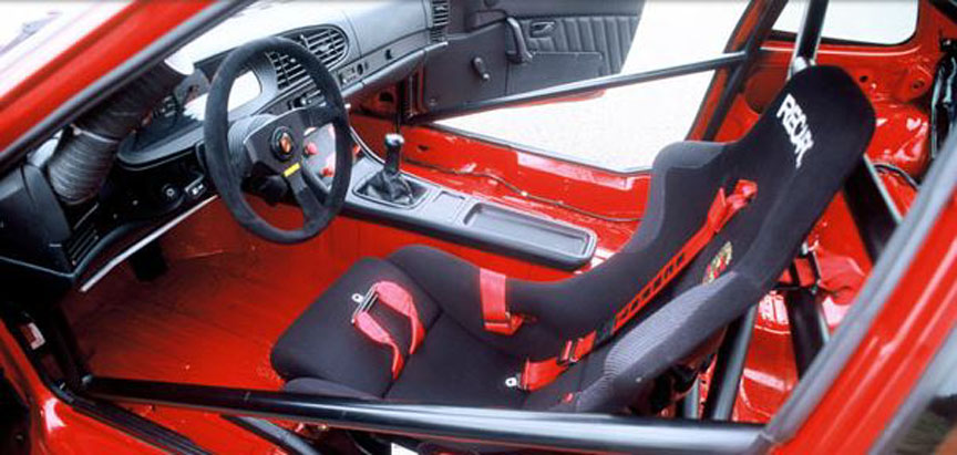 Porsche 968 Turbo RS interior, bucket seat