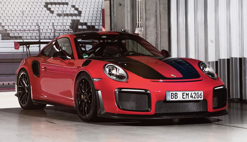 2017 Portimao GT2 RS press launch - Guards Red
