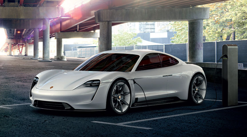 Porsche Mission E at the charging point