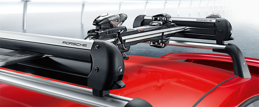 Porsche 911 991 roof rack with ski holder