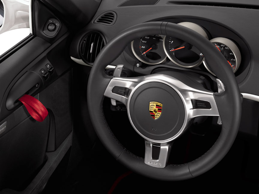 Porsche Boxster 987 Spyder PDK SportDesign steering wheel with paddle-shift
