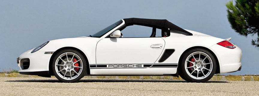 Porsche Boxster 987 Spyder, roof on side view
