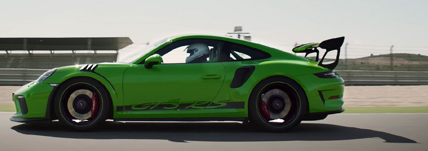 Porsche 911 991.2 GT3 RS with racing driver
