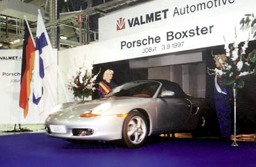 Production start of the Porsche Boxster in Finland in 1997