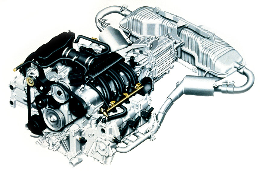 Porsche Boxster 986  engine, transmission and exhaust package