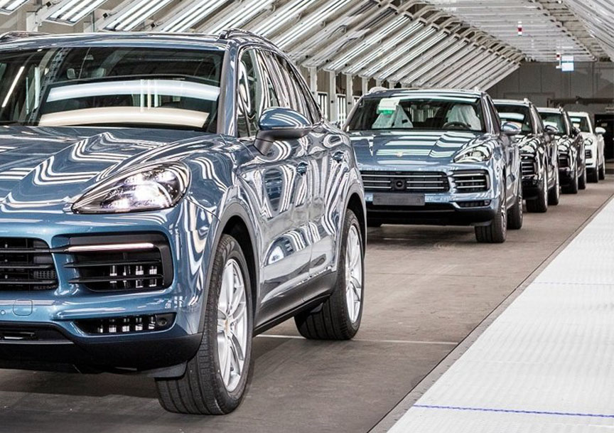 2018 model year Porsche Cayenne produced at Volkswagen plant in Bratislava
