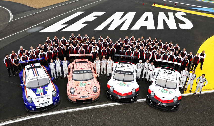 2018 Le Mans Porsche factory team