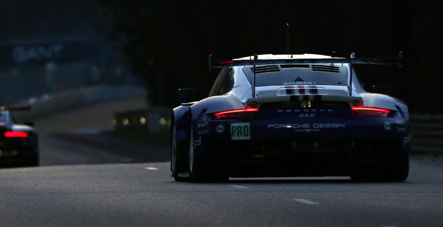 2018 Le Mans 24h, Porsches in the night
