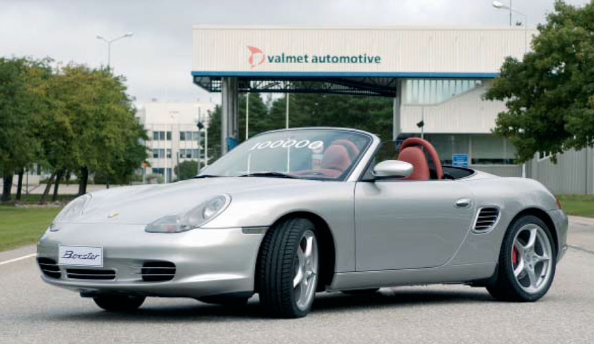 100.000th Porsche Boxster made in Finland