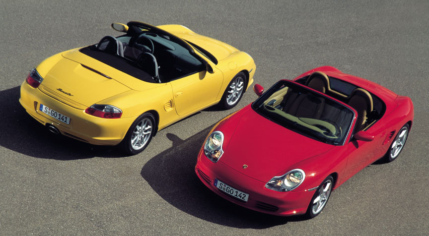 Porsche Boxster 986.2, yellow and red