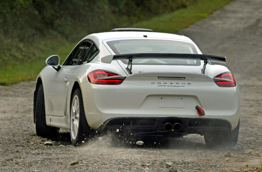 Porsche Cayman 981 GT4 Rally car prototype