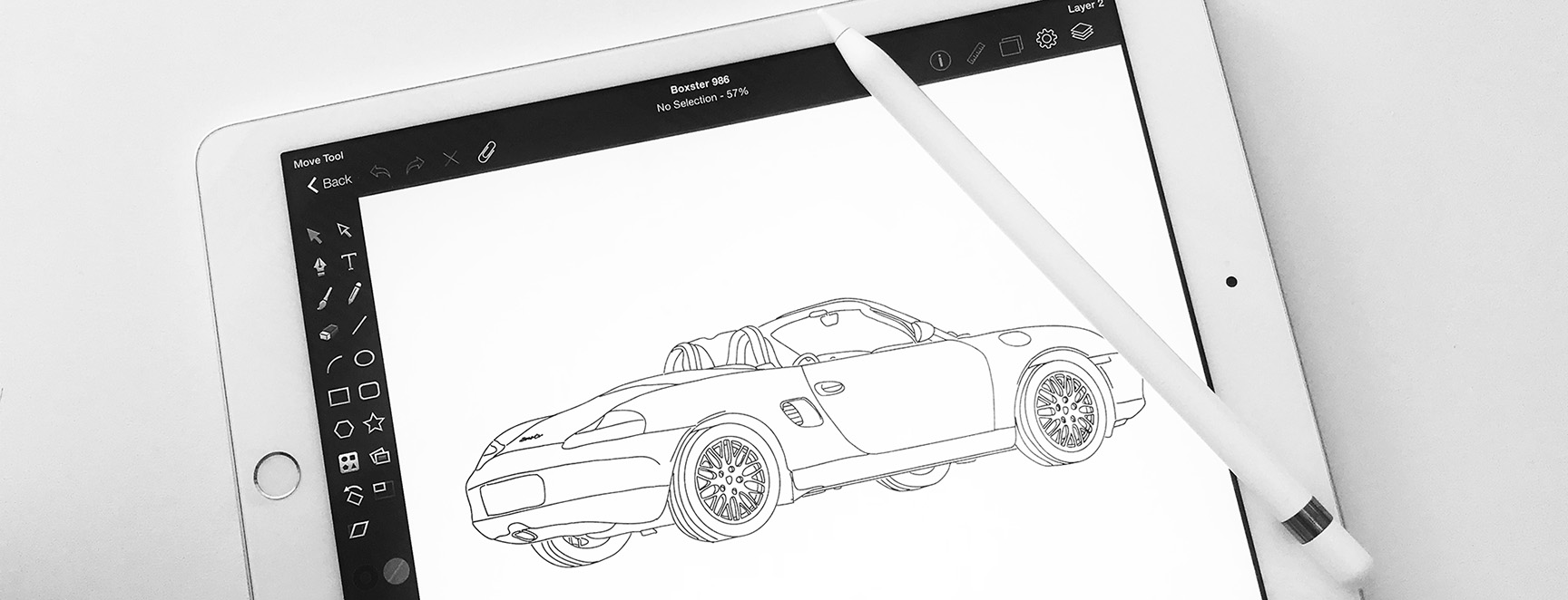 Porsche artwork and drawings