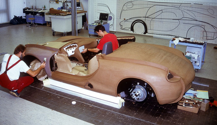 Boxster concept car in the making