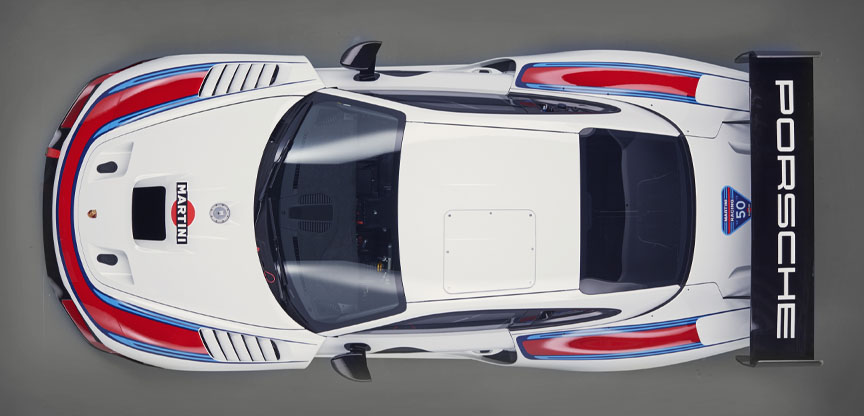 2018/2019 Porsche 935 Tribute top view
