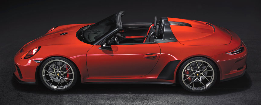 Guards Red (Indisch Rot) Porsche 911 991 Speedster concept