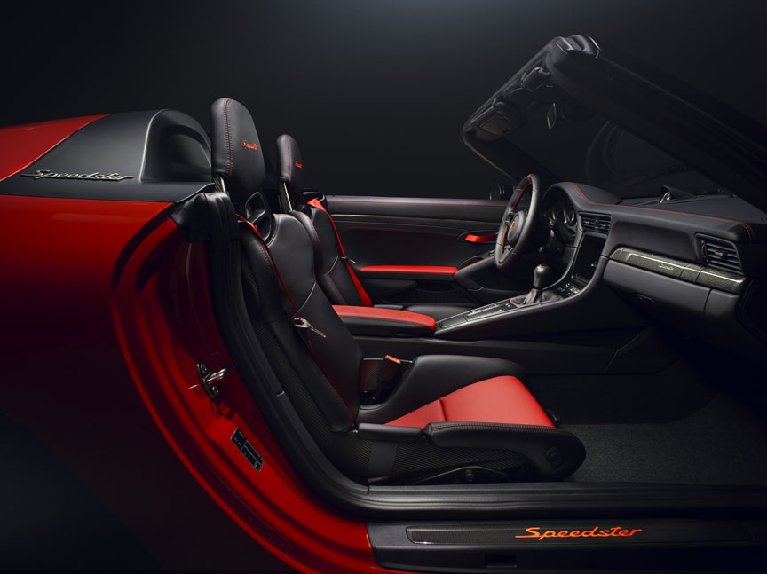 Porsche 911 991 Speedster concept black and red interior
