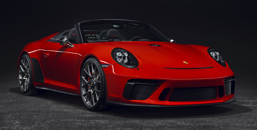 Porsche 911 991 Speedster concept in Guards Red