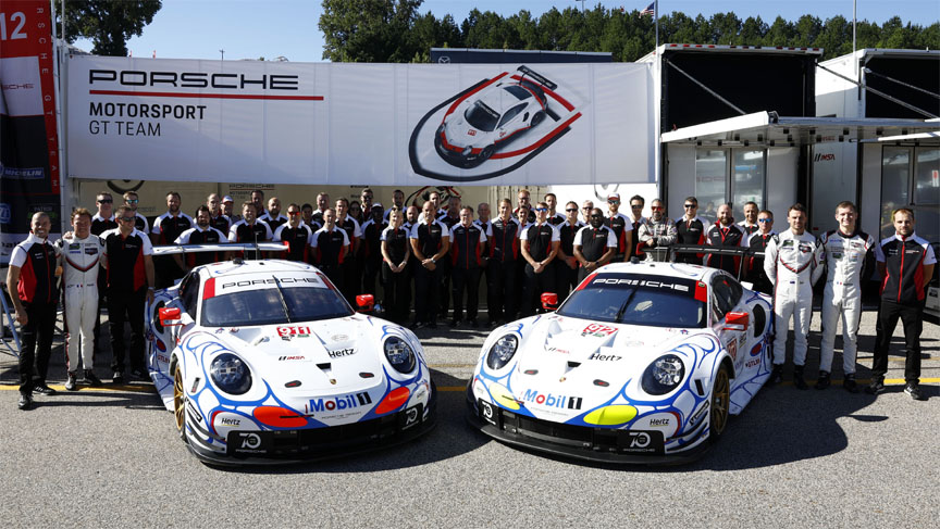 2018 Road Atlanta, Porsche 911 991.2 RSR with 1998 livery