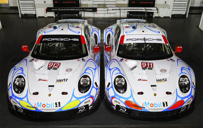 2018 Porsche 911 991.2 RSR with 1998 livery