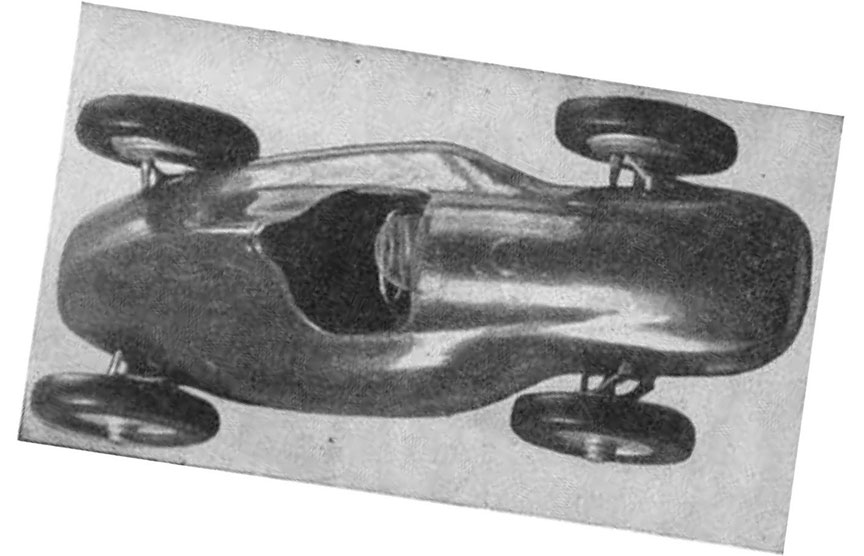 Cisitalia Grand Prix, Porsche type 360, wind tunnel model