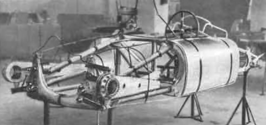 Cisitalia Grand Prix (Porsche type 360) chassis with fuel tanks