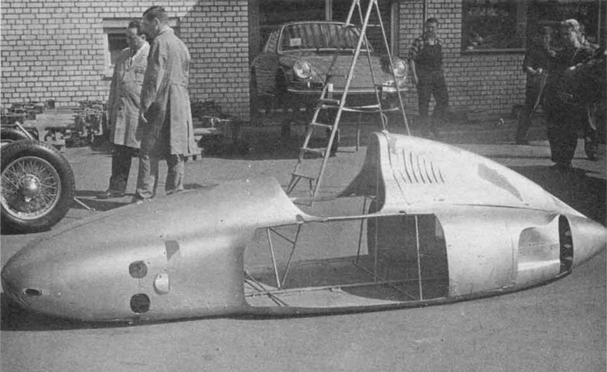 Aluminium body of the Cisitalia Porsche type 360