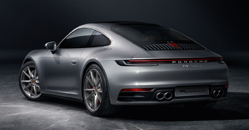 Porsche 911 992 Carrera S with standard exhaust system