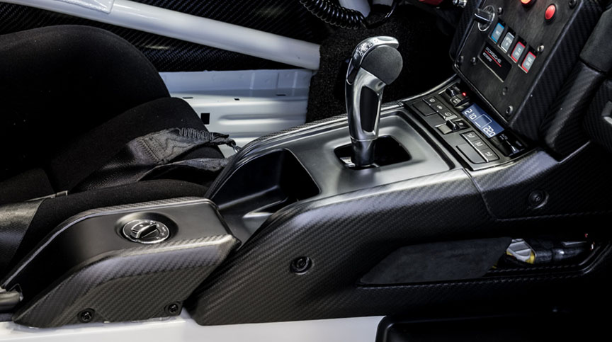Porsche 911 991 GT2 RS Clubsport carbon centre console
