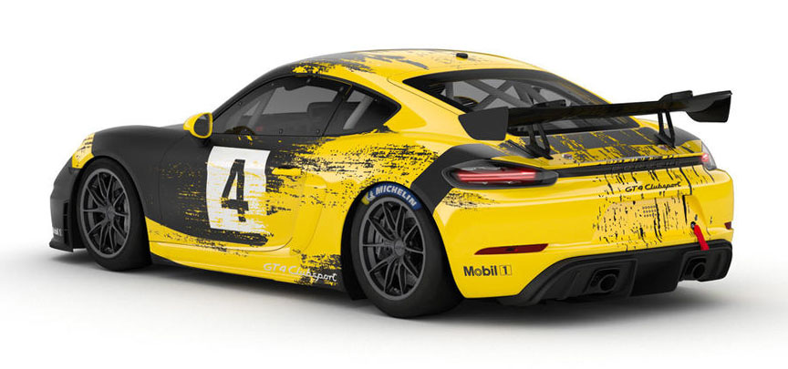 2019 Porsche 718 Cayman GT4 racing car