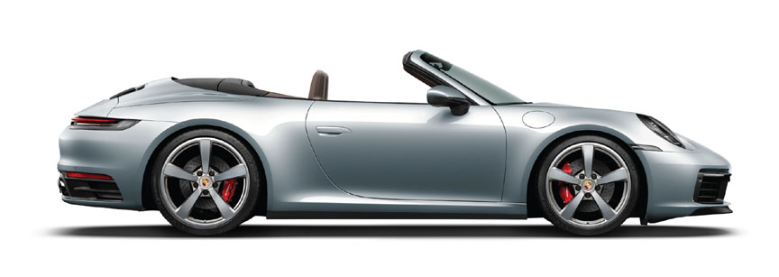 2019 Porsche 911 992 Carrera Cabriolet, side view