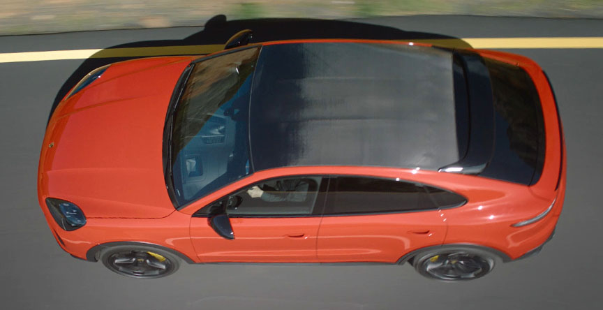 2019/2020 Porsche Cayenne Coupe carbon roof top view