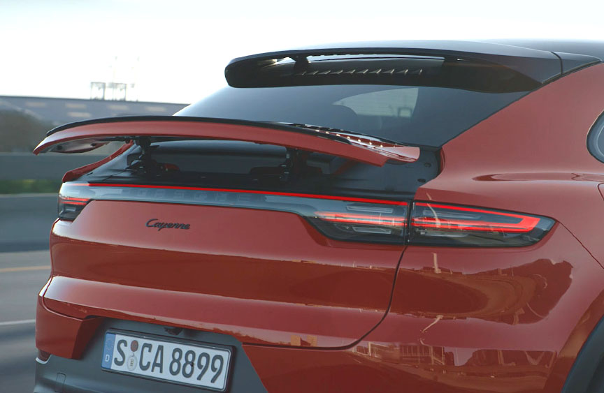 2019/2020 Porsche Cayenne Coupe rear spoiler up
