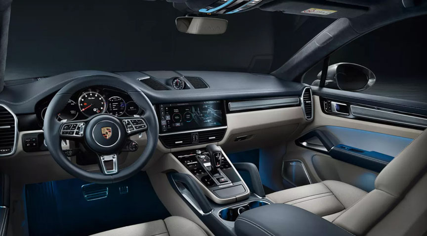 2019/2020 Porsche Cayenne Coupe interior, dashboard, steering wheel