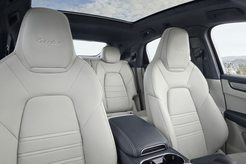 2019/2020 Porsche Cayenne Coupe interior, seats