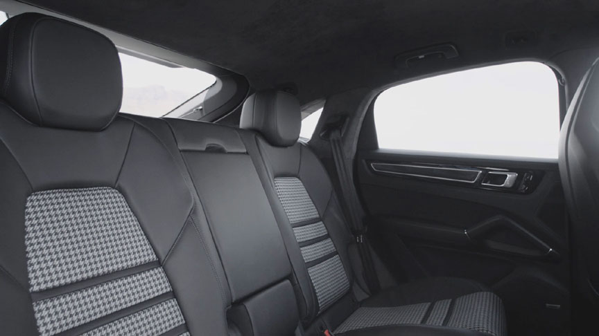 2019/2020 Porsche Cayenne Coupe with cloth rear seat centres