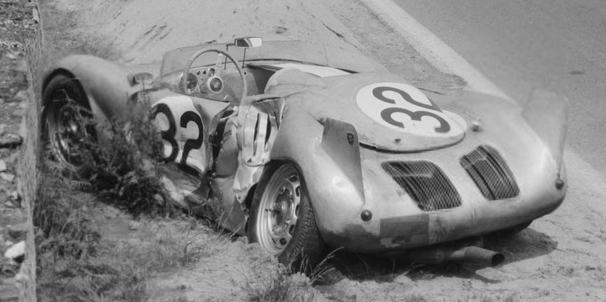 1957 Le Mans accident, Porsche 718 RSK Barth/Maglioli