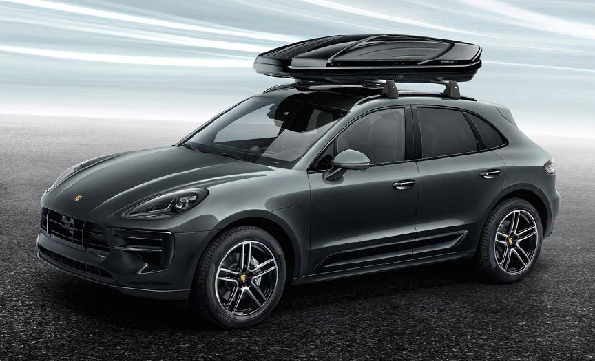Porsche Macan with roof box