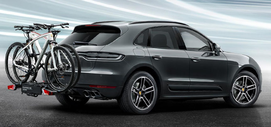 Porsche Macan with rear bicycle holder