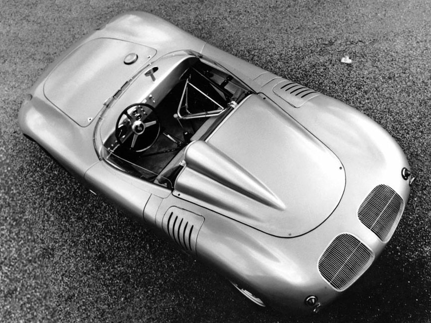 Porsche 718 RSK customer version, top view, cockpit