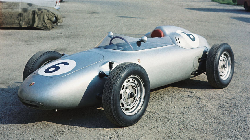 Jo Bonnier's Porsche 718 F2 that he used to score second in England at Aintree in April 1960