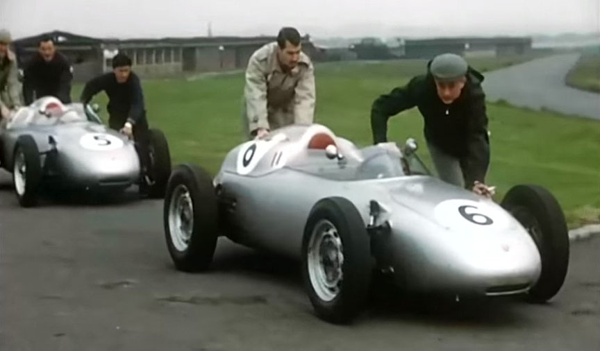 1960 Aintree, Porsche factory team 718 F2