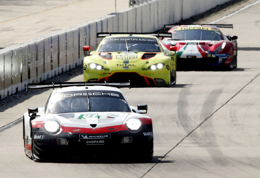 2019 Sebring 1000 mile race winner Porsche 911 RSR