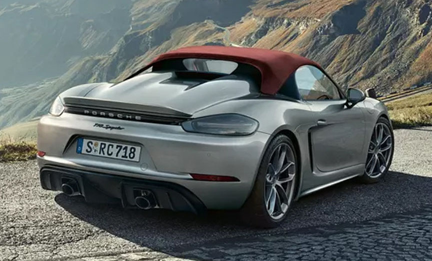 2020 Porsche 718 (982) Spyder with soft top on