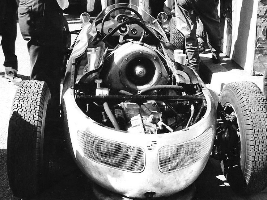 1961 Monaco F1 GP, Porsche 787 of Jo Bonnier