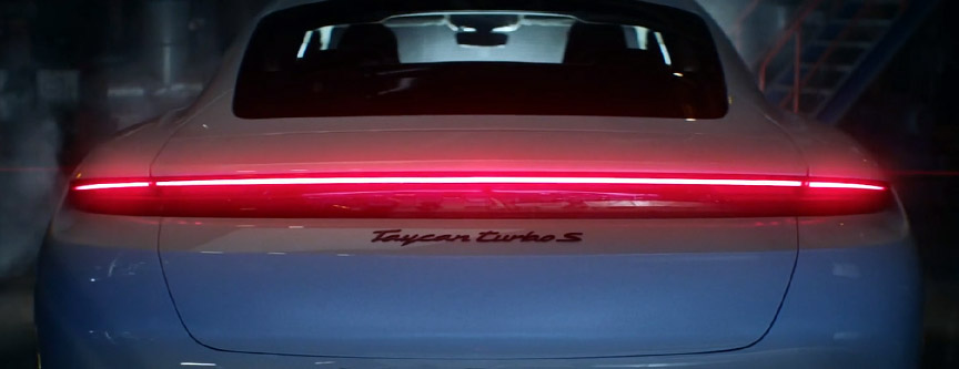2020 Porsche Taycan rear light strip