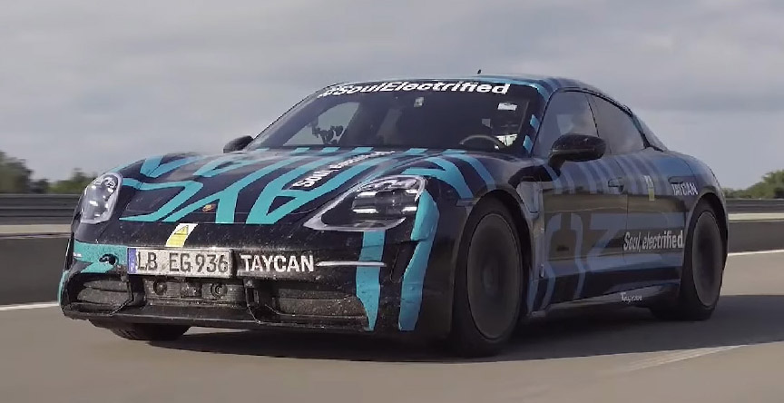 Porsche Taycan at the 24 h test